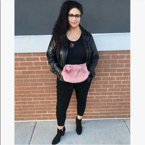 Pink Haley Bags - 🆕Adorable Faux Fur Blush Colored Fanny Pack